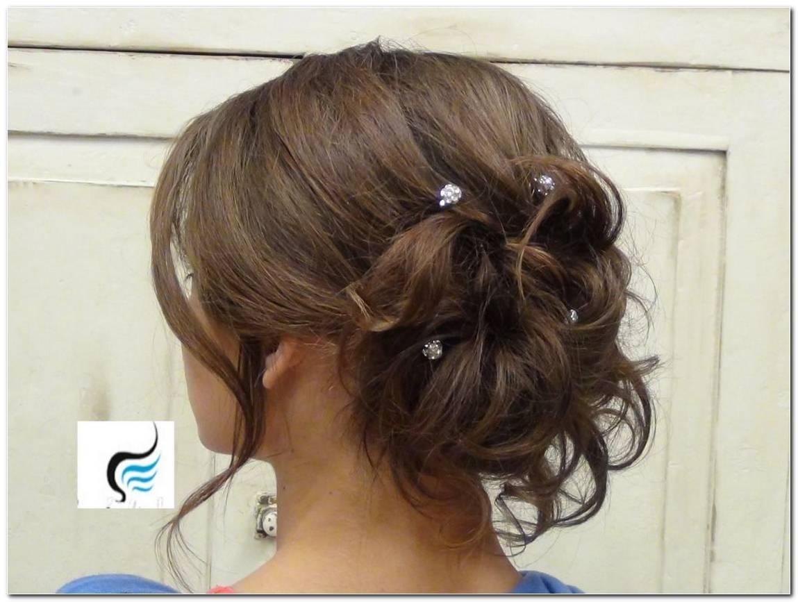 Abschlussball Frisuren Mittellang