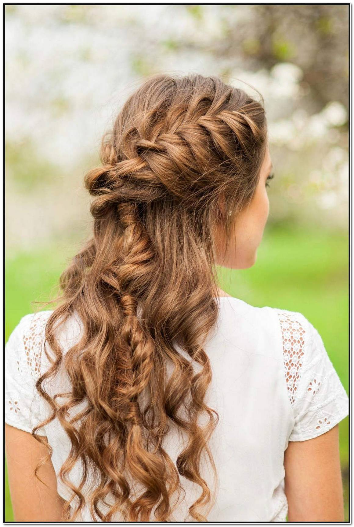 Abschlussball Frisuren Mittellange Haare Geflochten