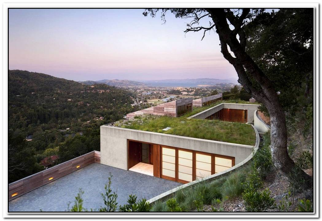 Abstract Redesigned 1960′S Hillside Home