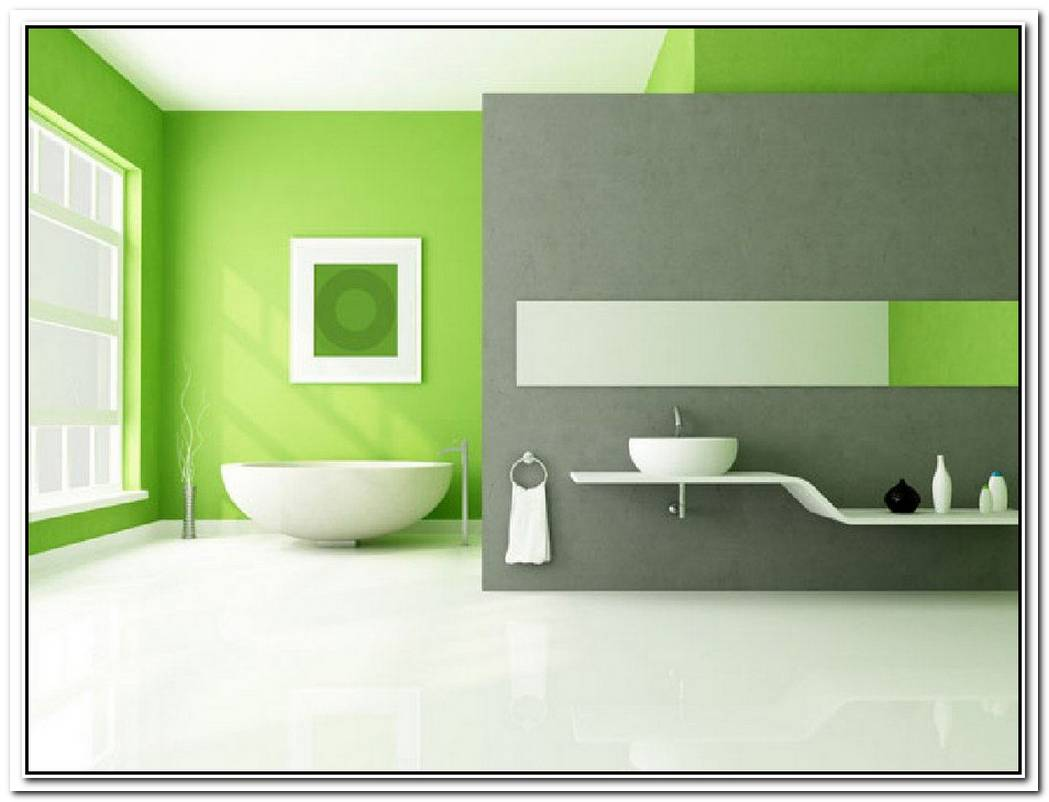Accent Wall Bathroom Lime Green