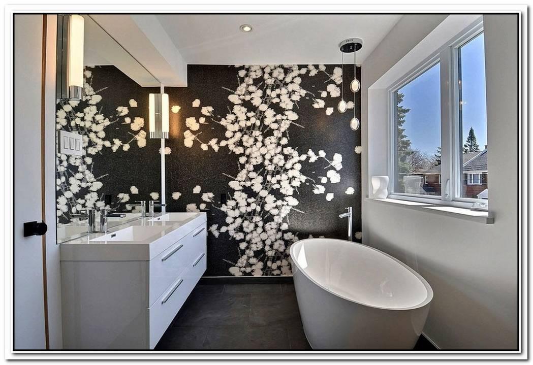 Accent Wall Bathroom Small Bathroom