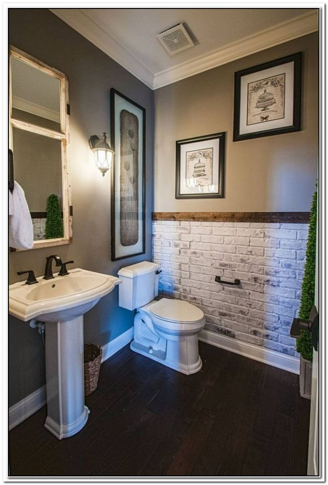 Accent Wall Bathroom