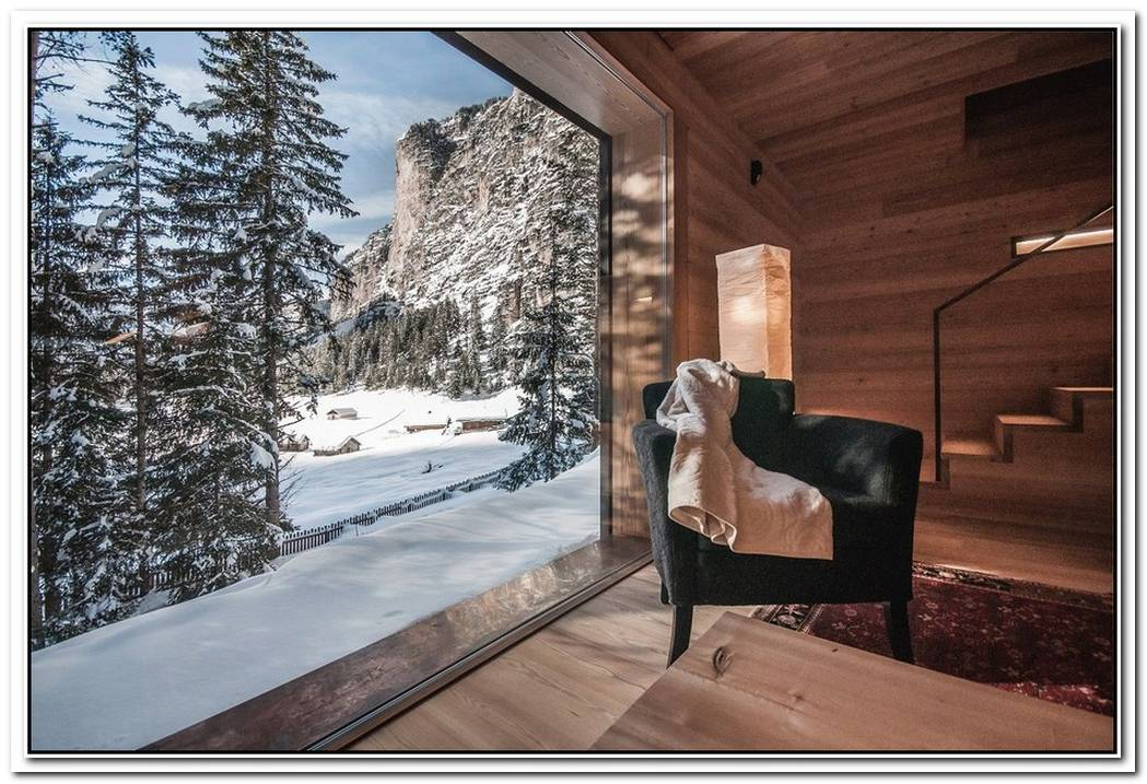 Alpine Lodge Completely Wrapped In Wood But With A Modern Look