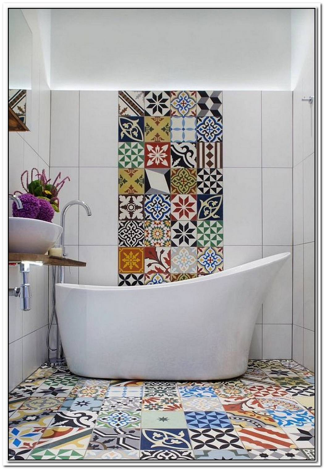 An Audacious And Trendy Mix25 Creative Patchwork Tile Ideas