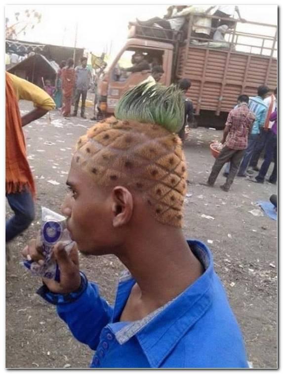 Ananas Kopf Frisur