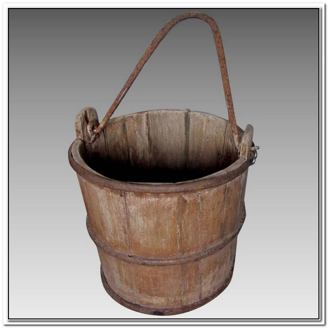 Antique Wooden Well Buckets