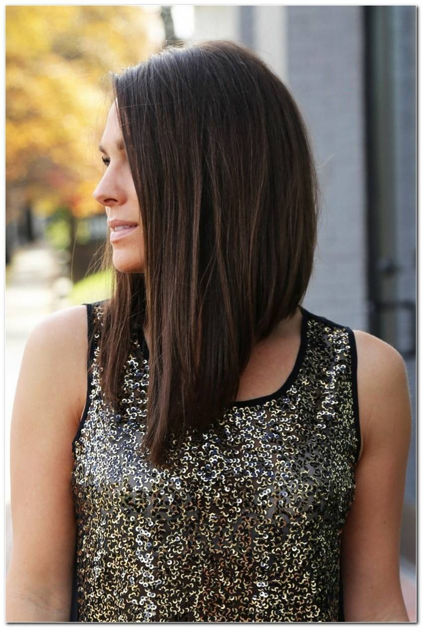 Asymmetrische Frisuren Lang