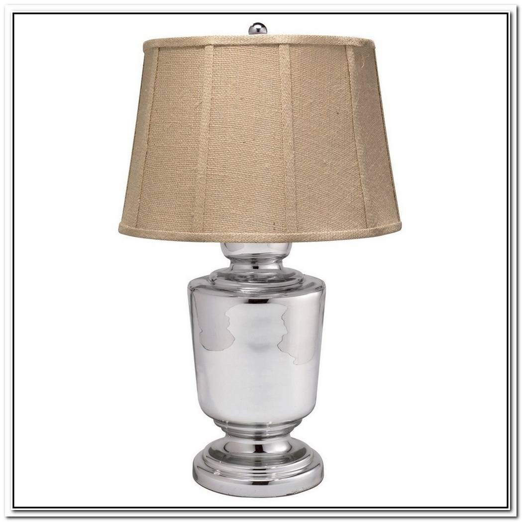 Autumn Touch With The Etched Fern Mercury Glass Table Lamp