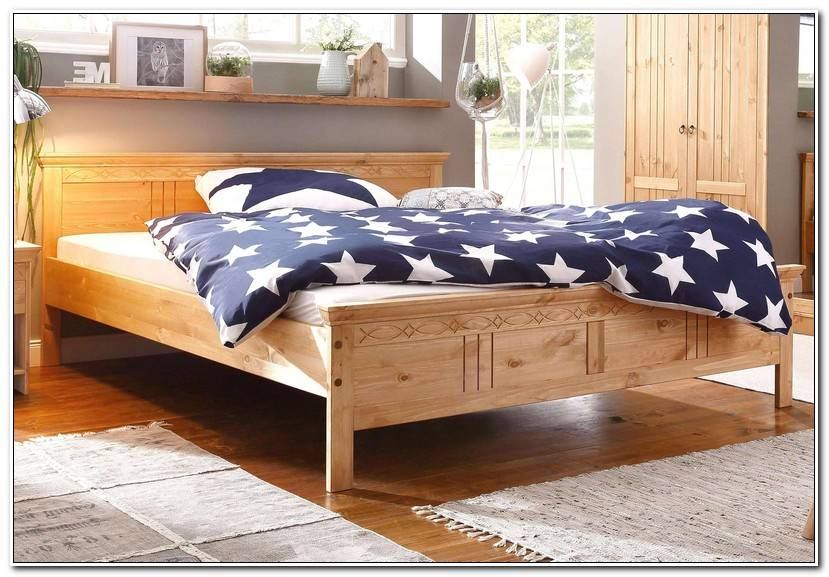 Awesome Bett Aus Holzbalken