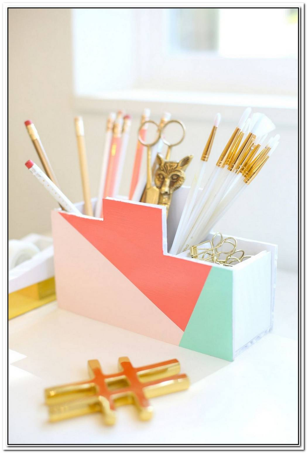 Back To School Diy Modern Desk Organizer