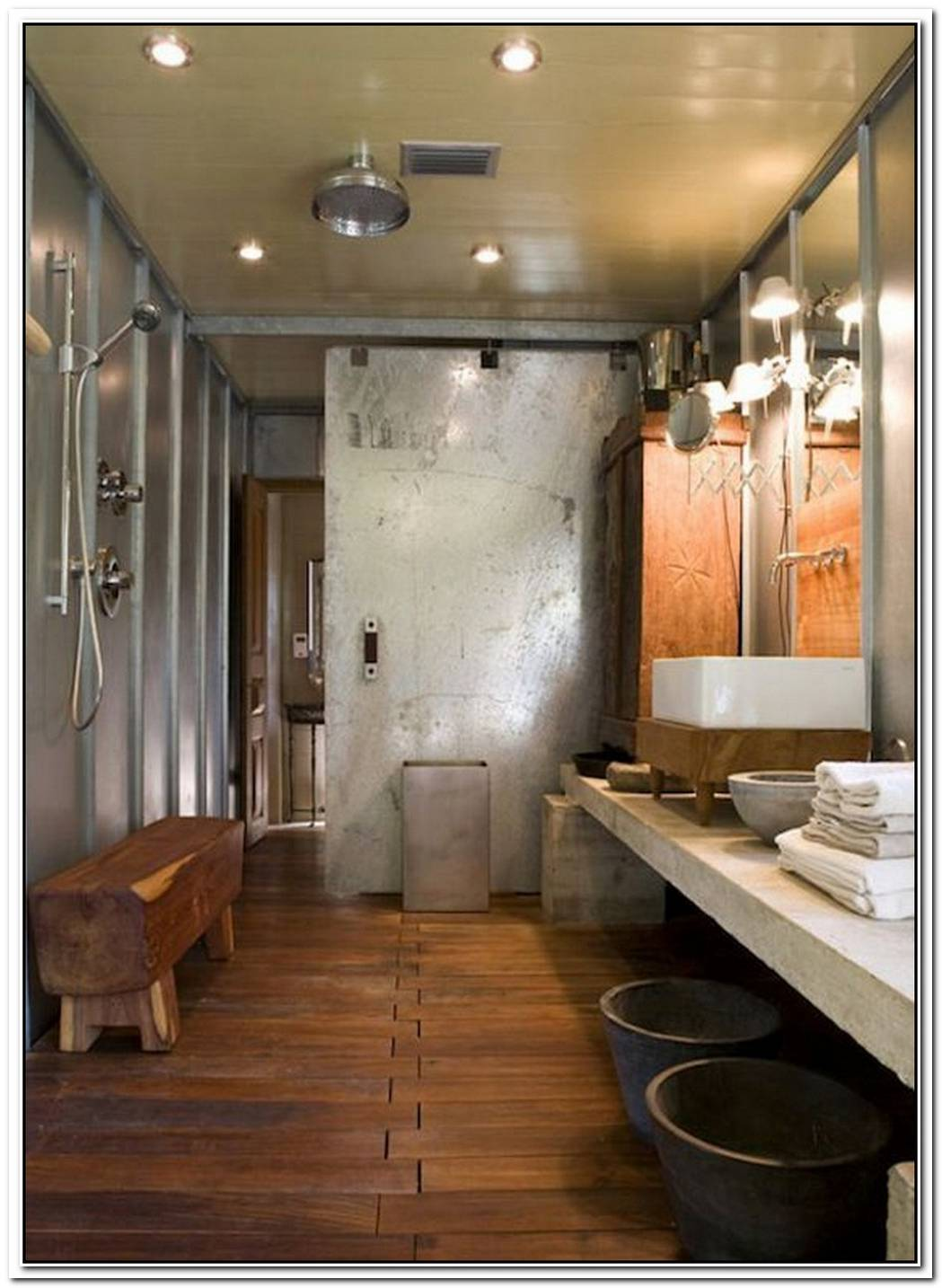 Barn Bathroom Industrial