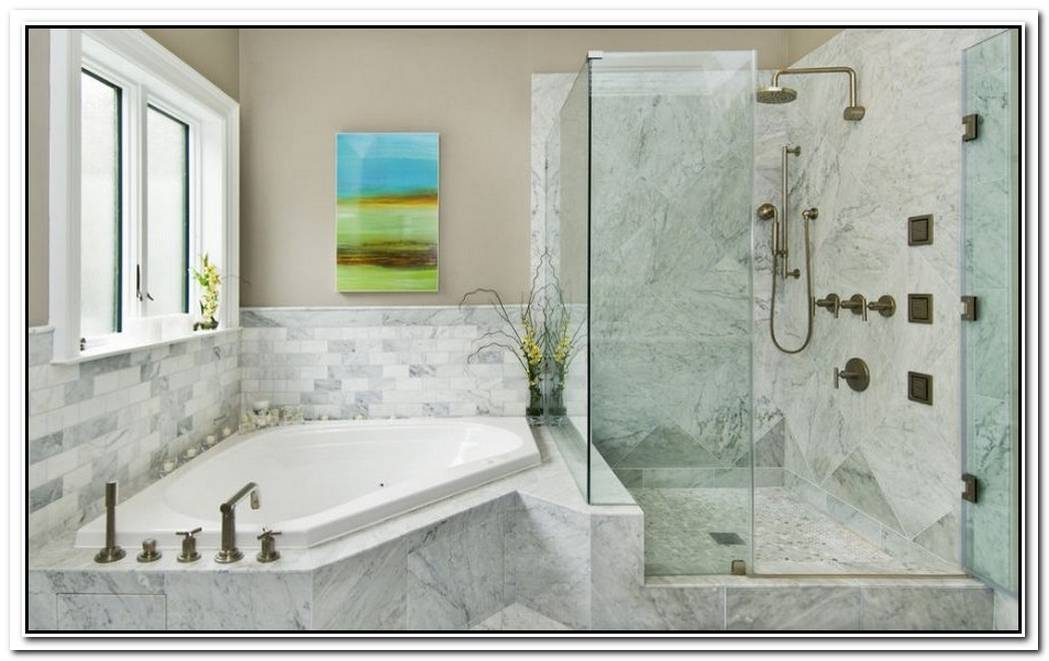 Bathroom Corner Shower Build In