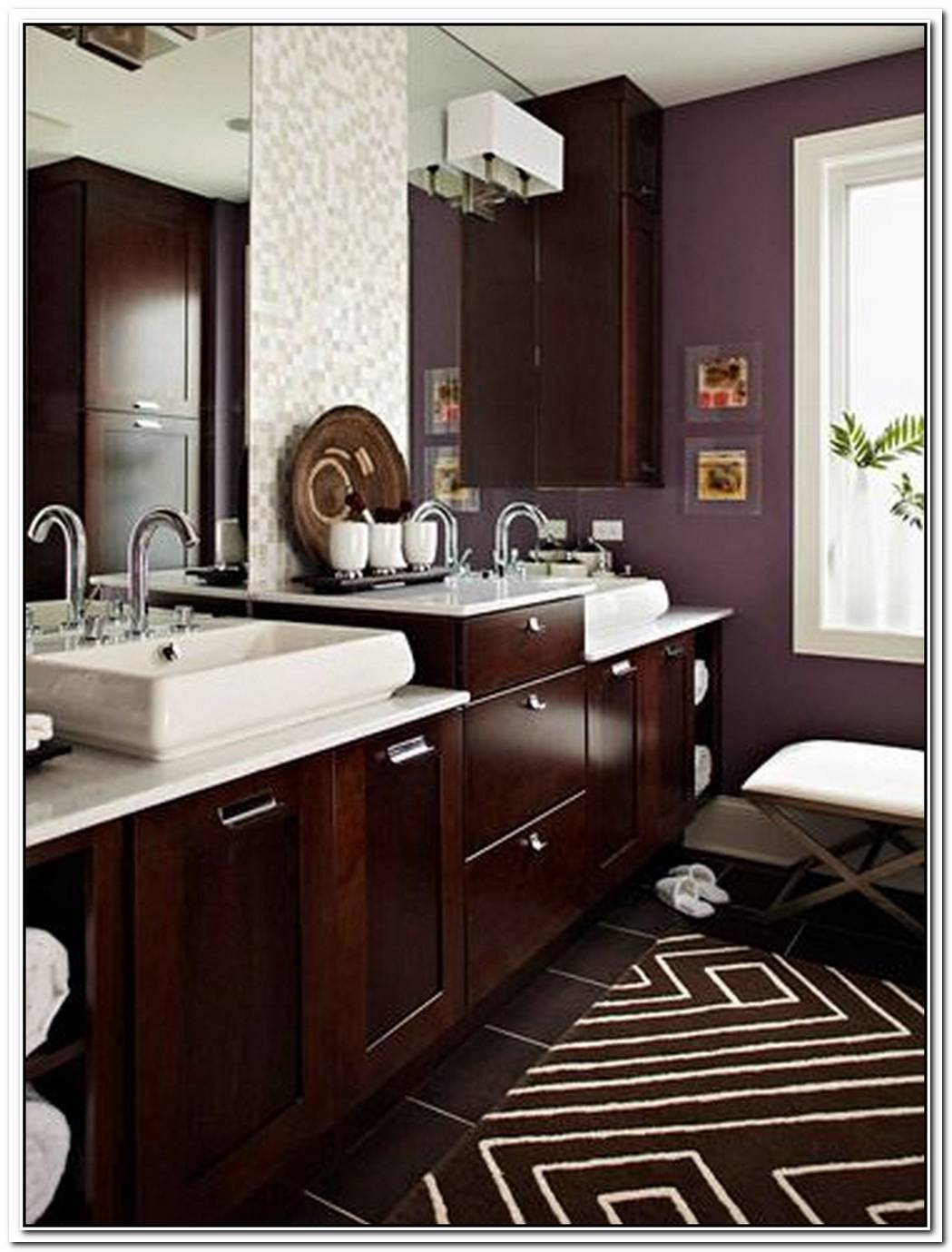 Bathroom Dark Brown And Purple