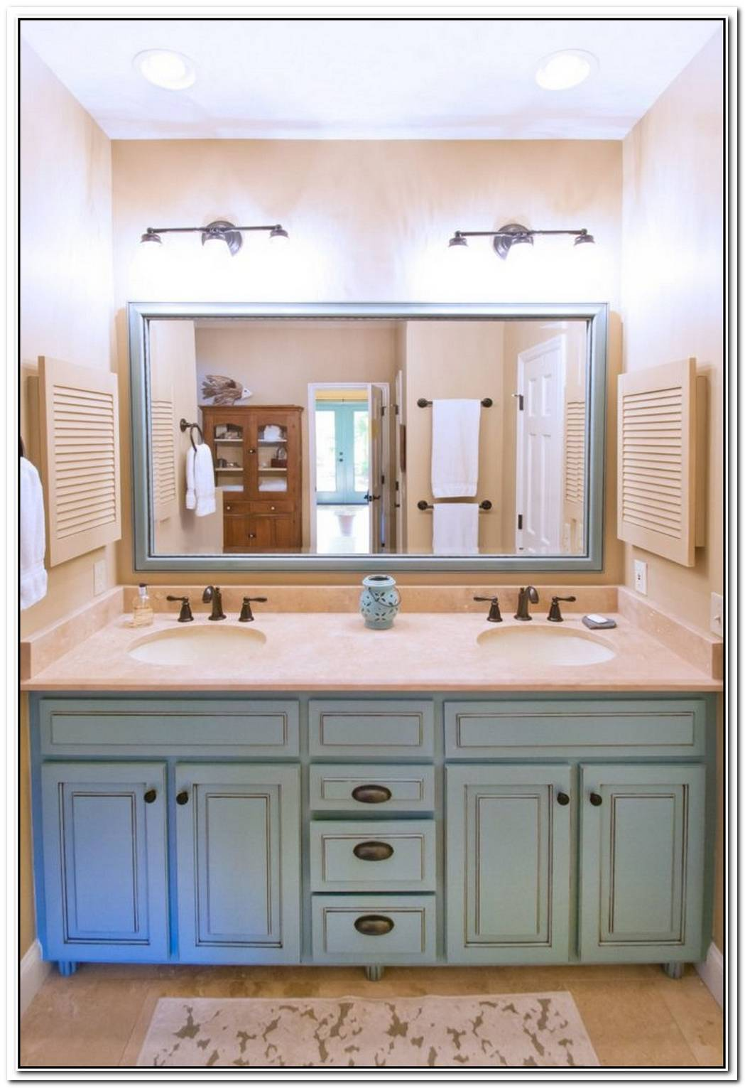Bathroom Farmhouse Green Vanity