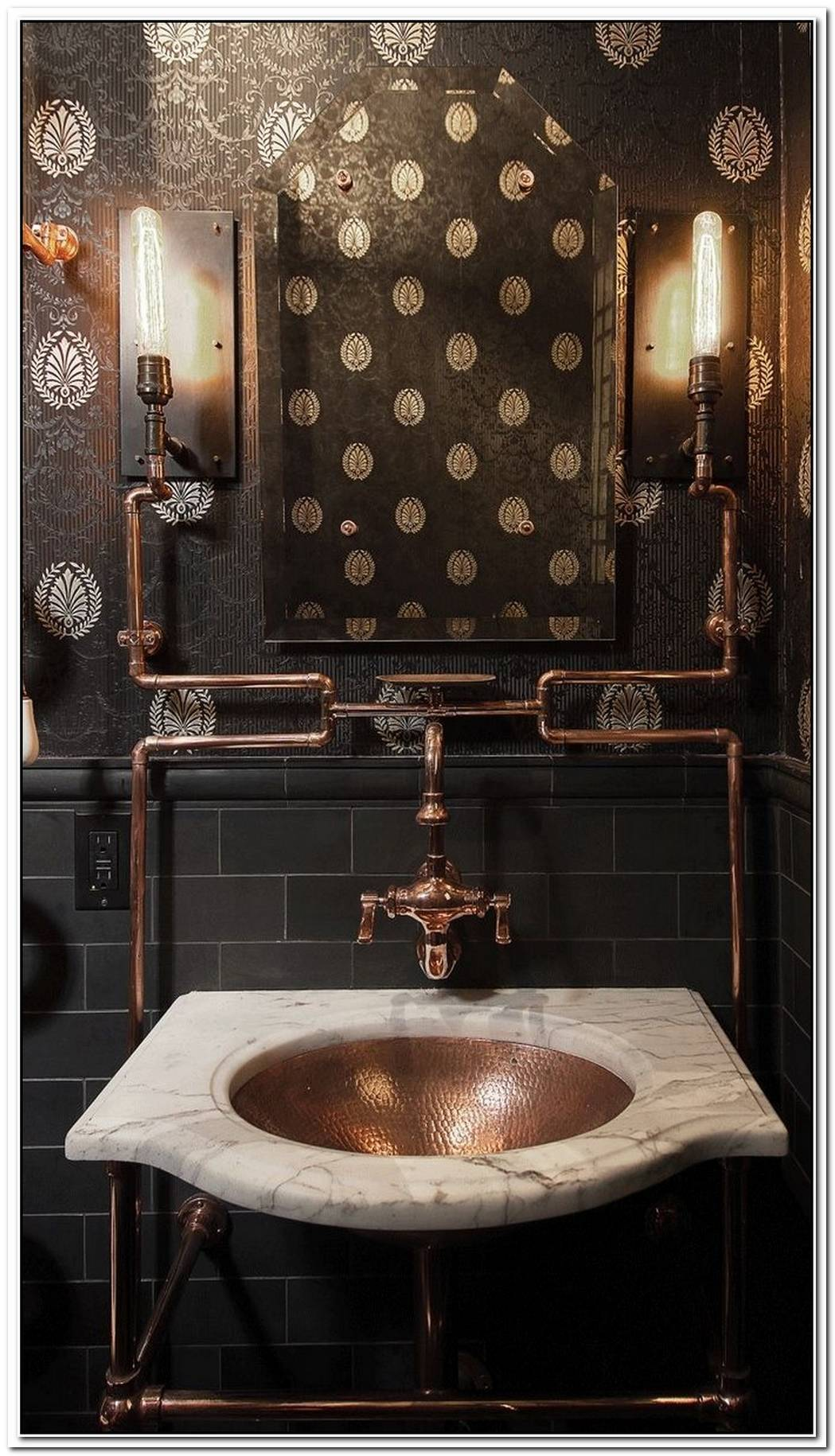 Bathroom Industrial Industrial Steampunk