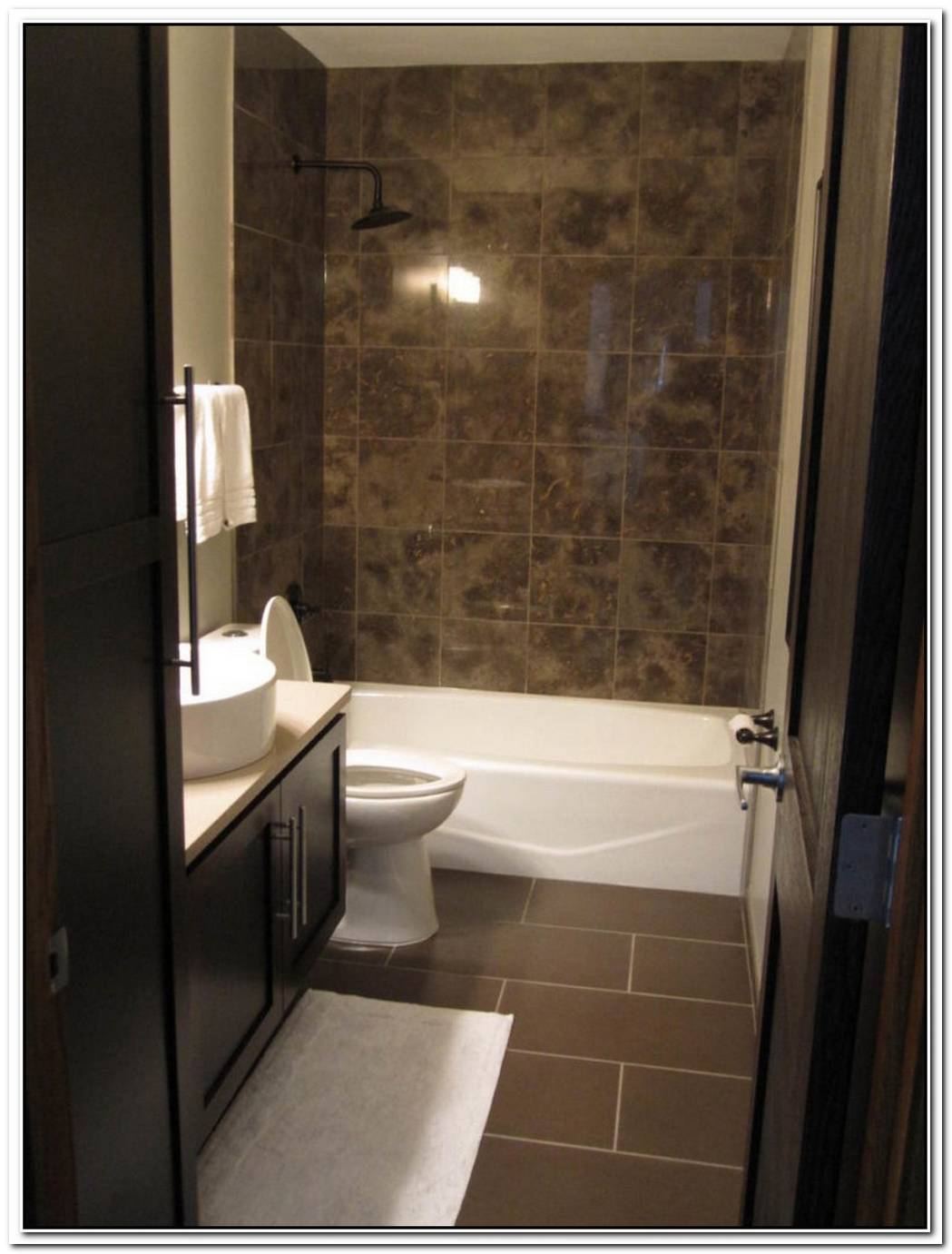 Bathroom Modern Brown Black Brown
