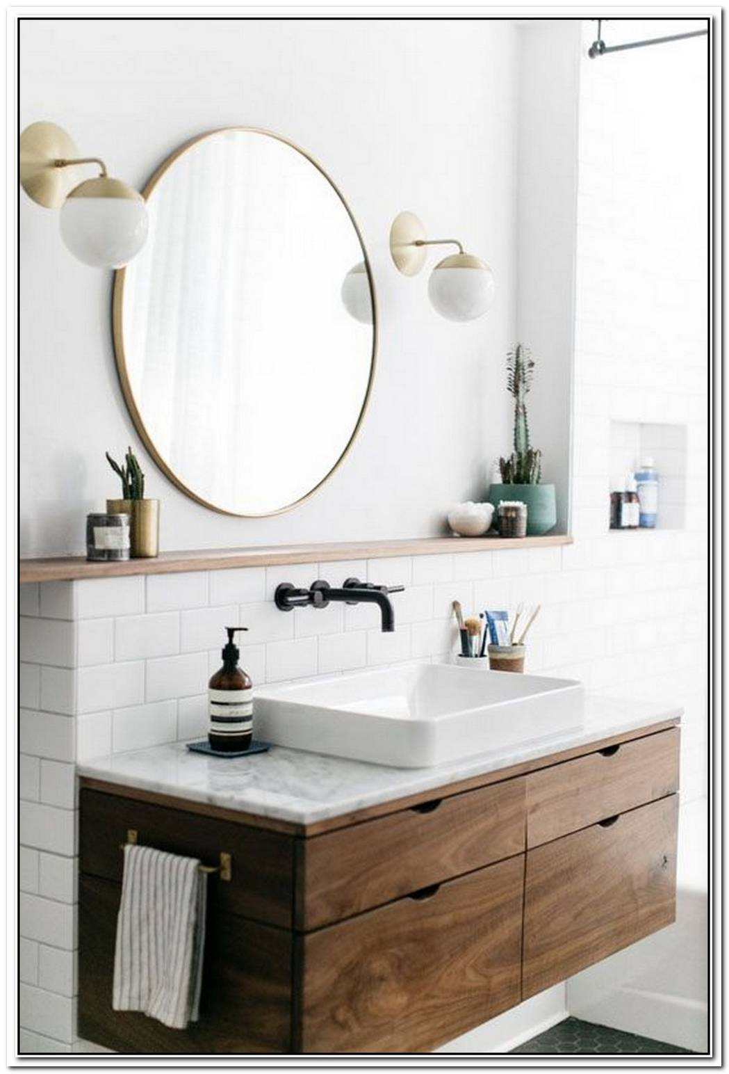 Bathroom Modern Wood Chic