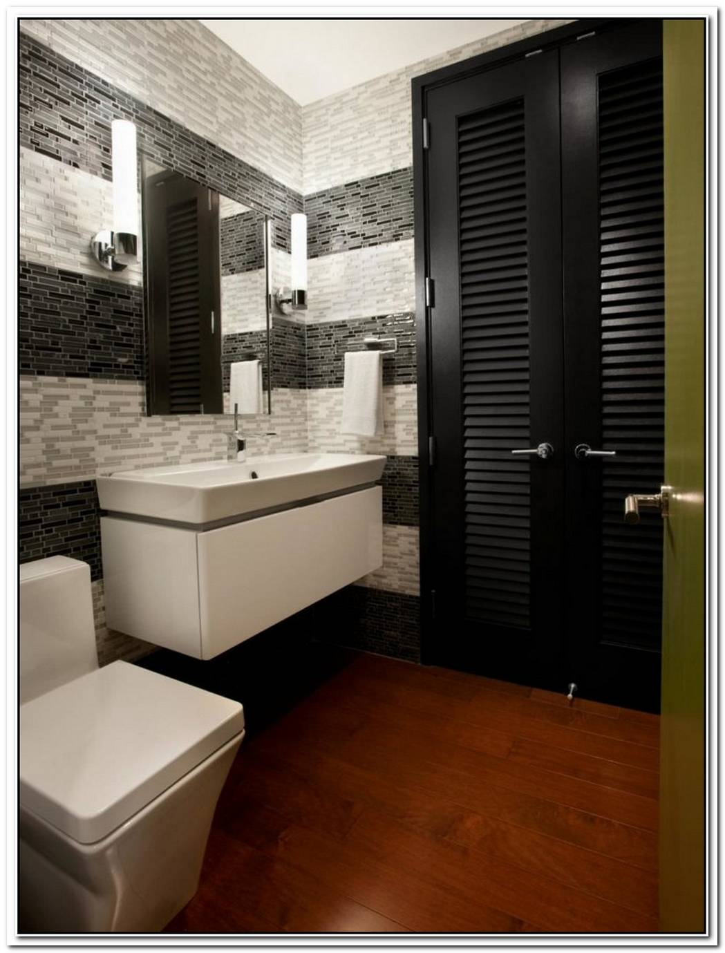 Bathroom Modern Wood Small Urban