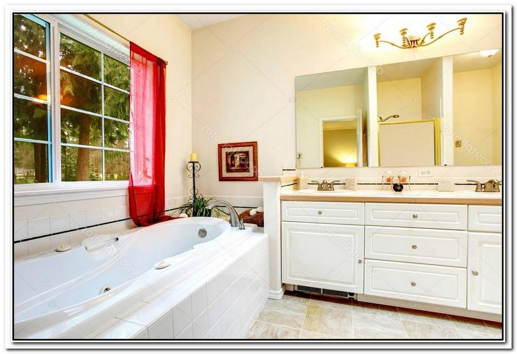 Bathroom Red Ivory