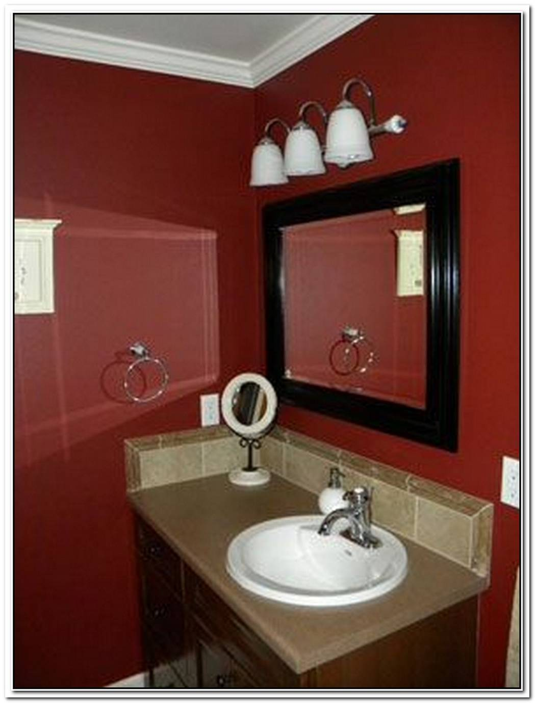 Bathroom Red Red Wood