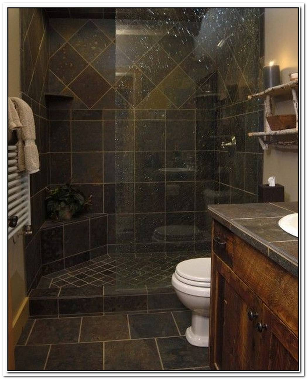 Bathroom Small Slate Slate Tile