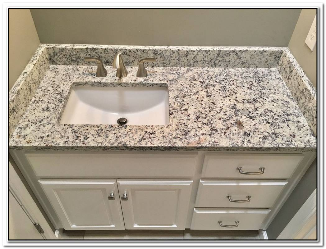 Bathroom Small White Granite