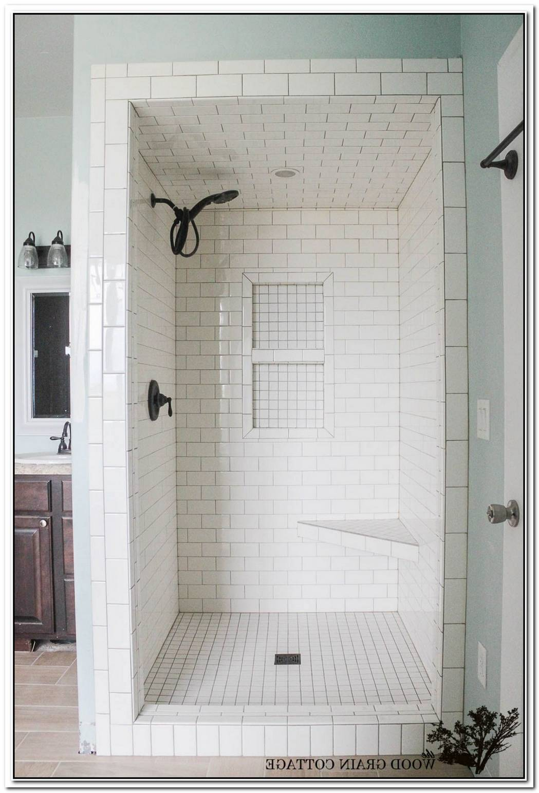 Bathroom Small White Tile Shower Tile
