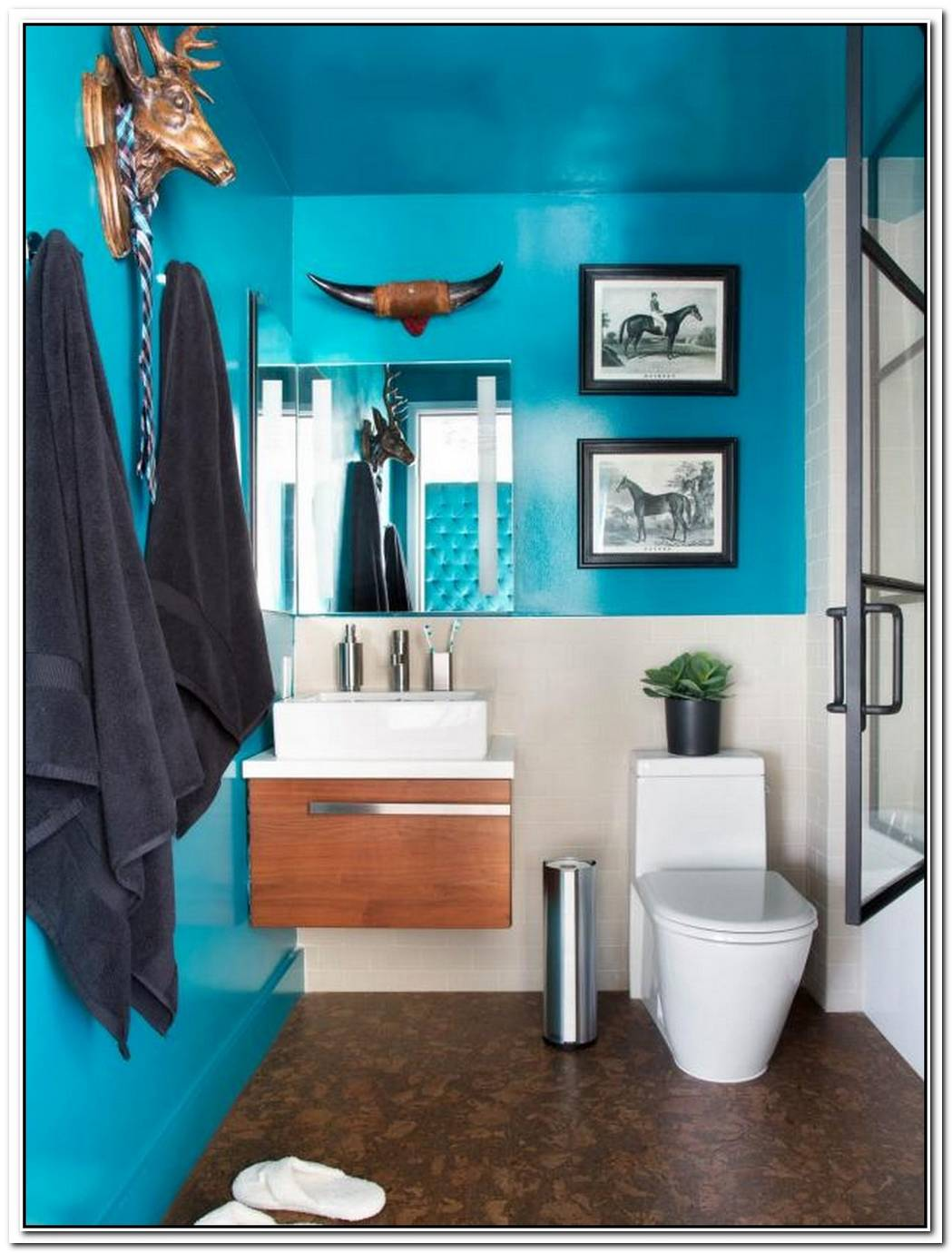 Bathroom Teal Cool