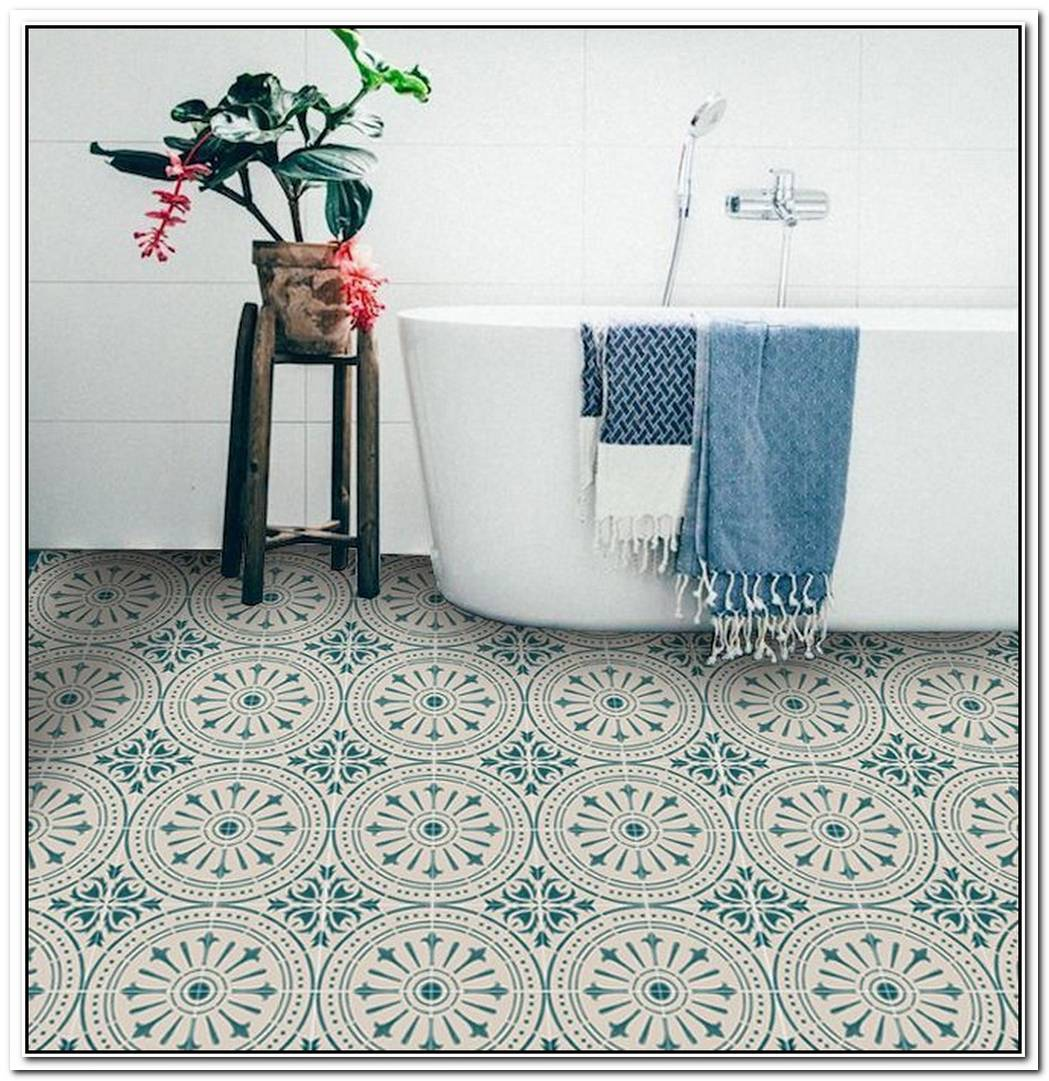 Bathroom Teal Cream
