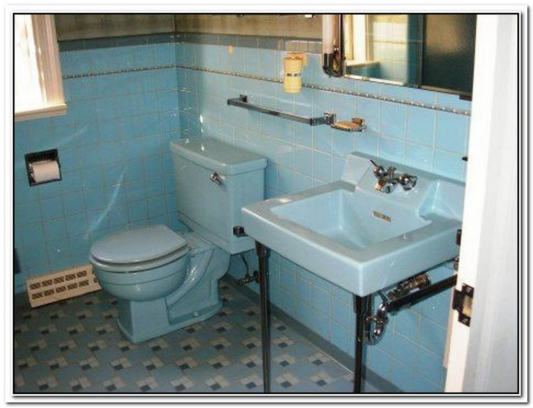 Bathroom Teal Vintage Blue