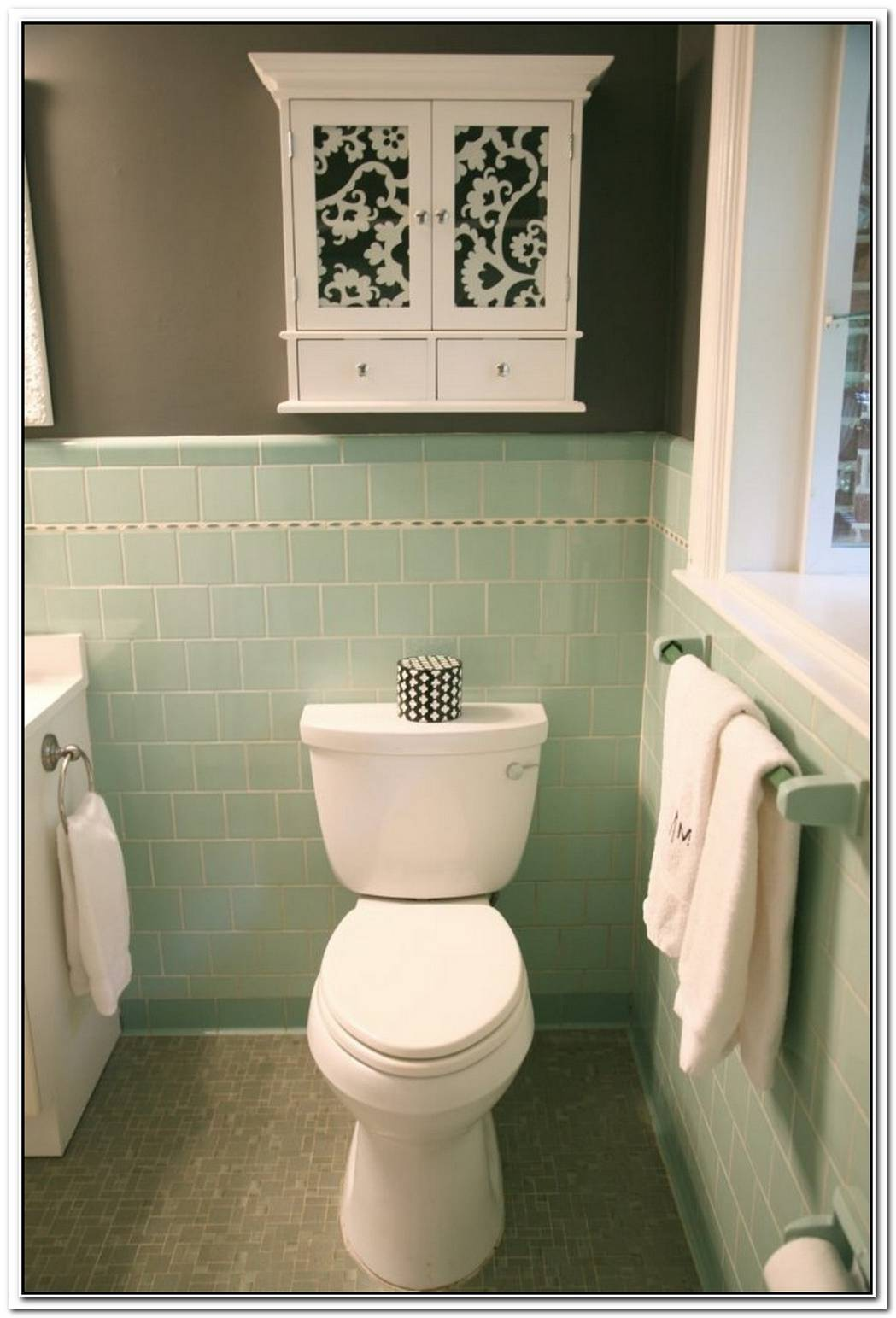Bathroom Tile Sea Foam Green Vintage Bathroom