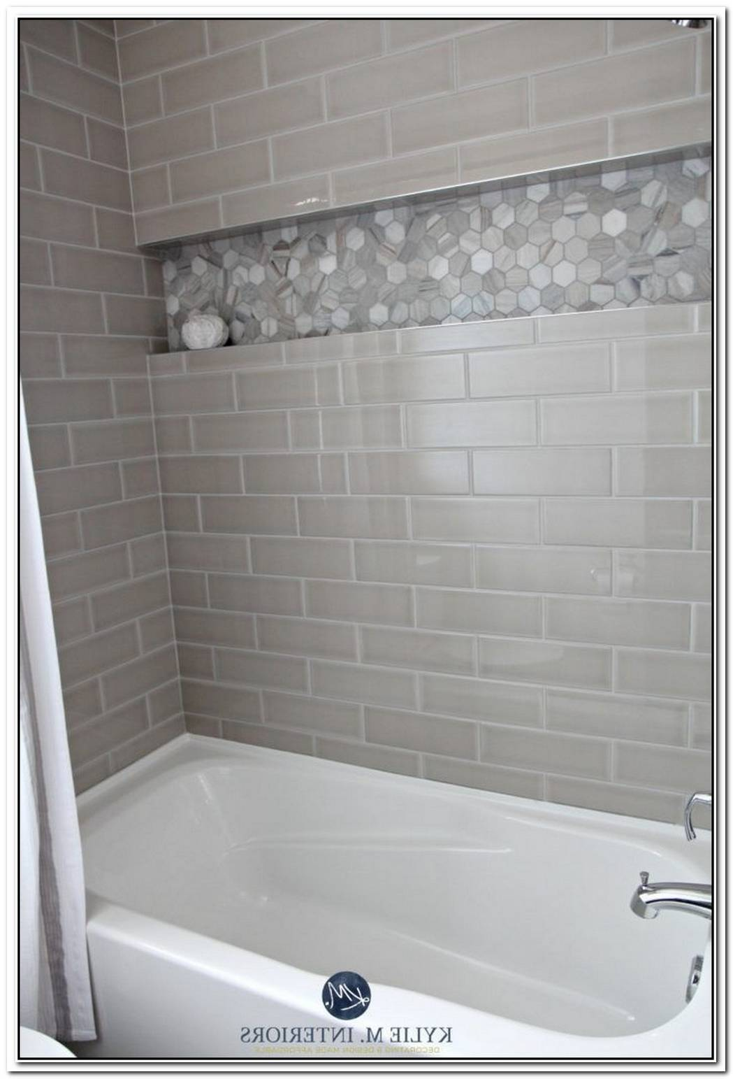 Bathroom Tiled Gray