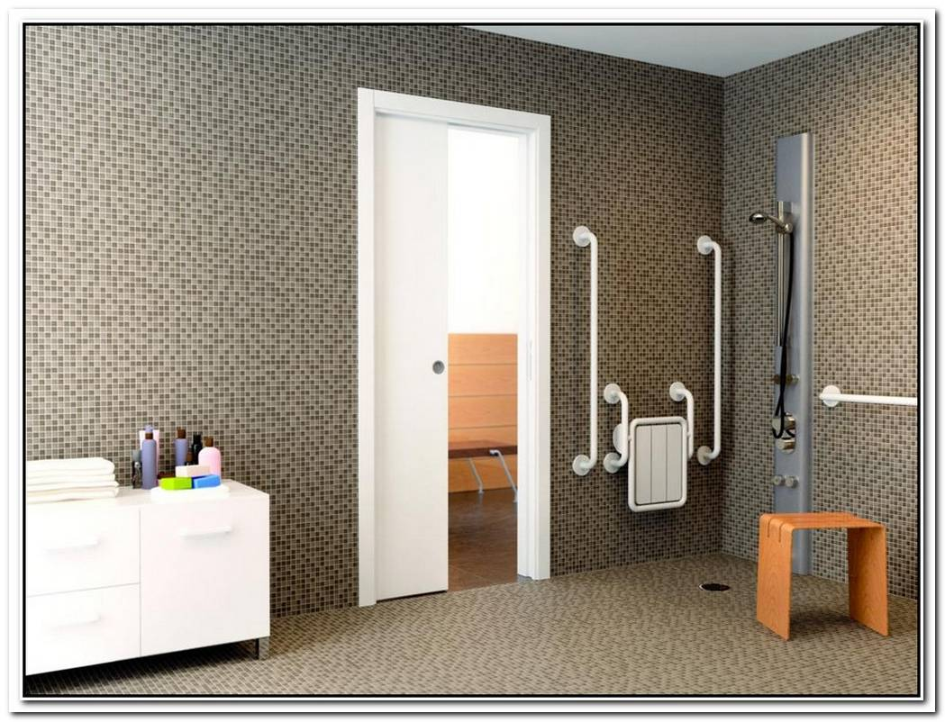Bathroom Wall Tile Pocket Door Bathroom