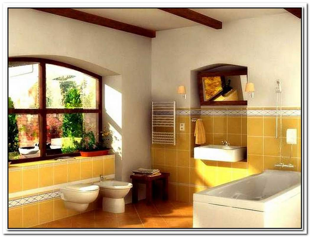 Bathroom Yellow Colored