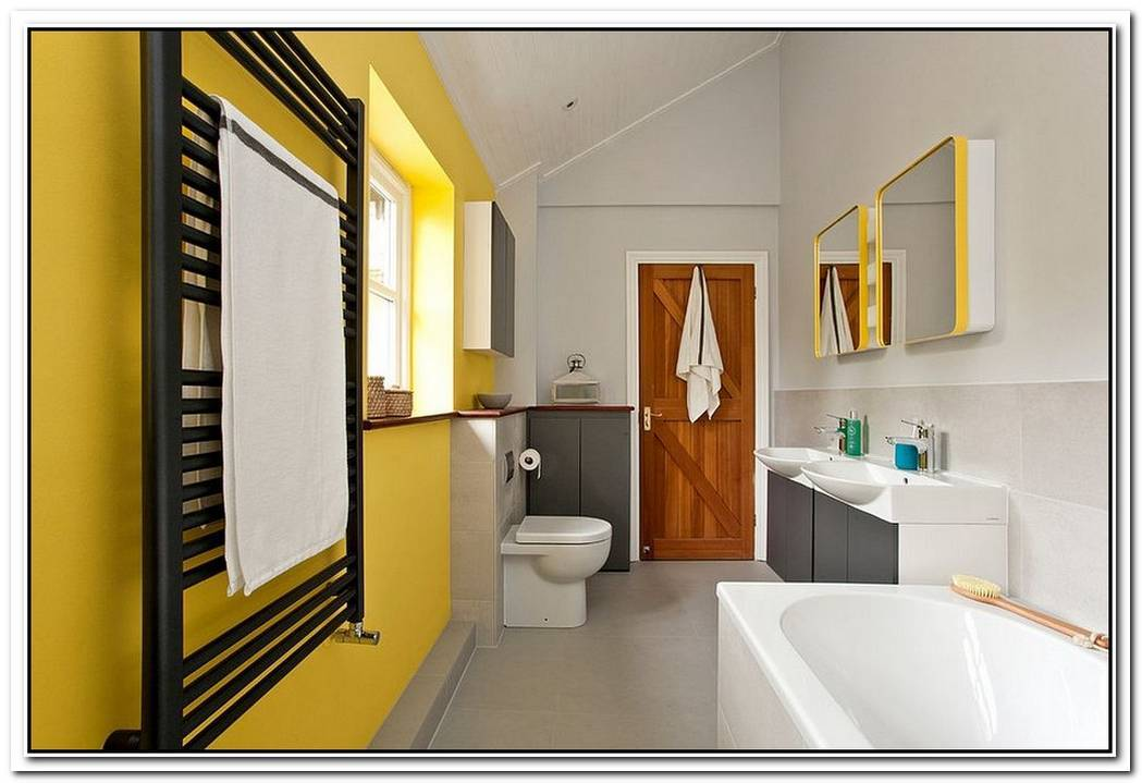 Bathroom Yellow Contemporary