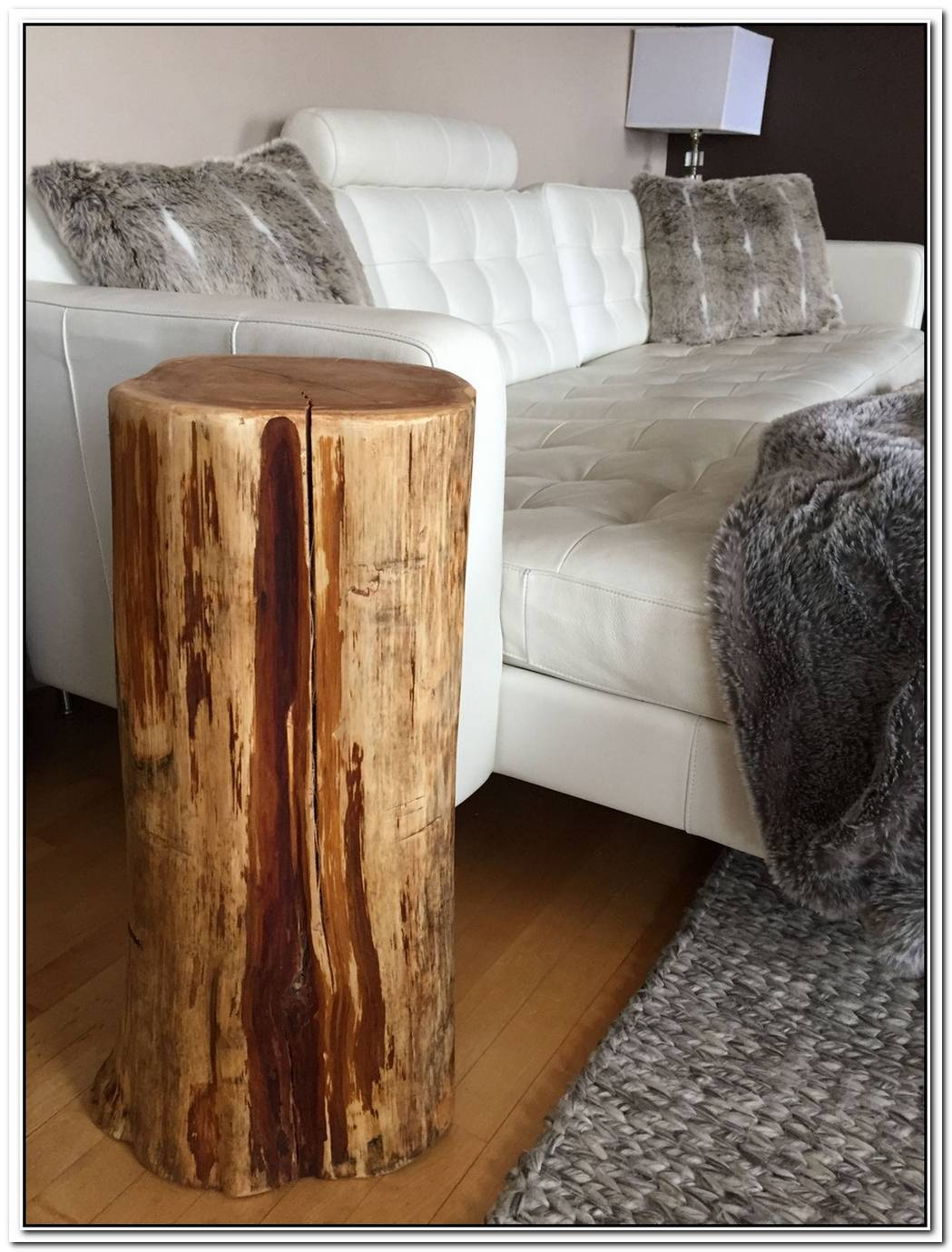 Beautiful Cut Stump Table From Arteriors