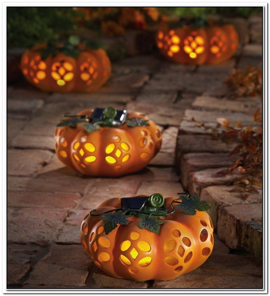 Beautiful Decorative Pumpkin With Lights