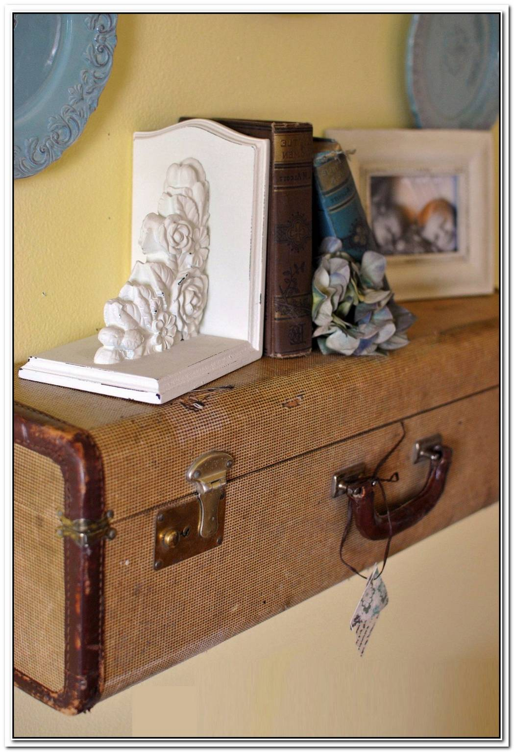 Beautiful Vintage Suitcase Shelves