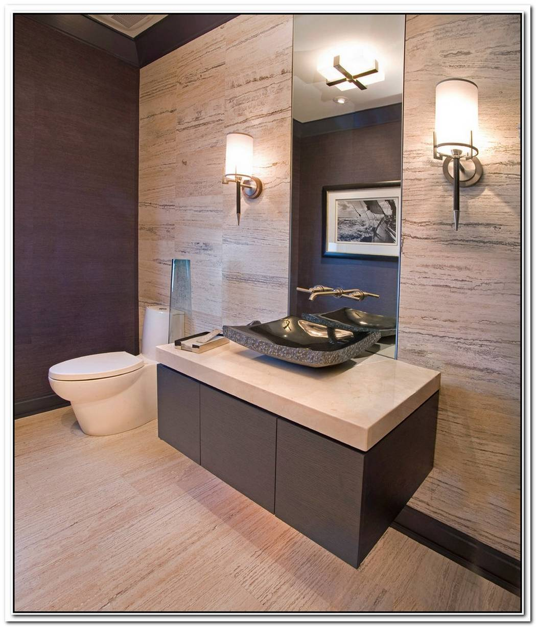 Beige Bathroom Modern Sink