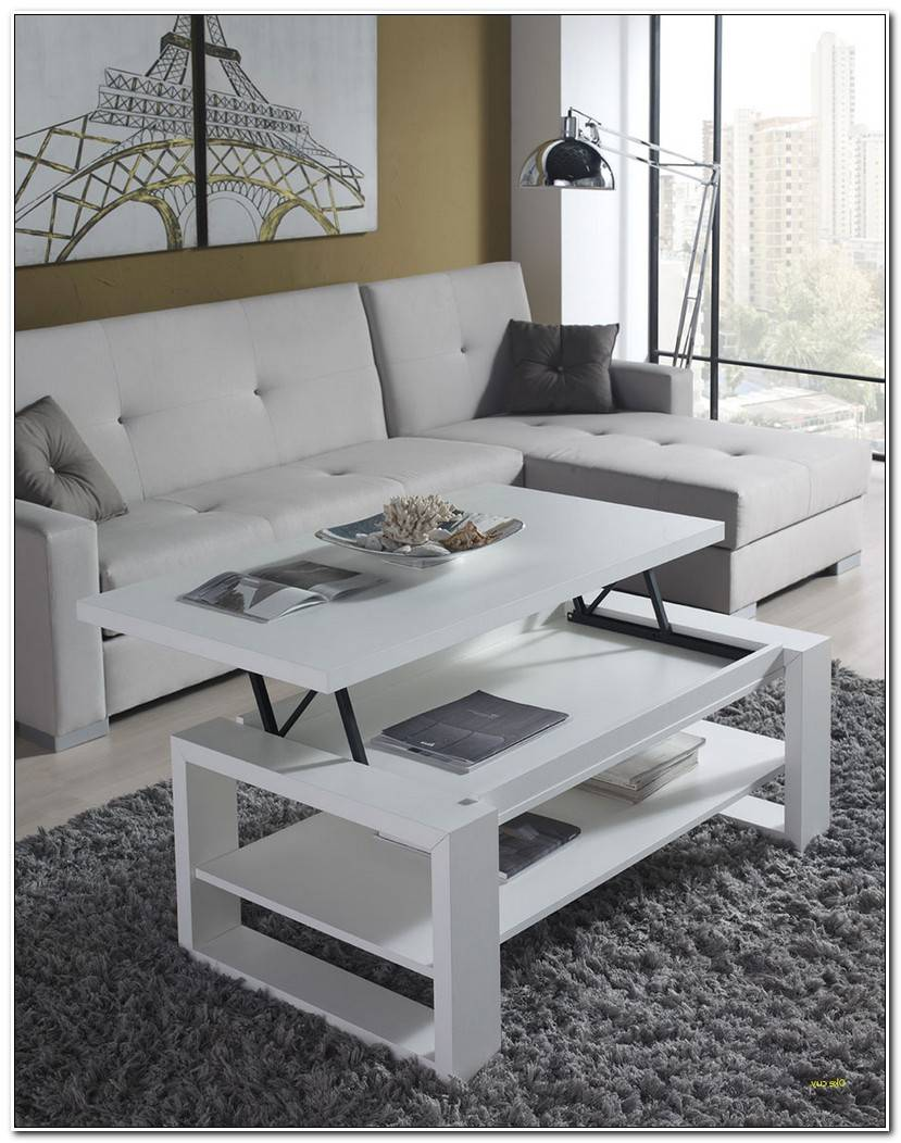 Best Table Basse Relevable Blanche