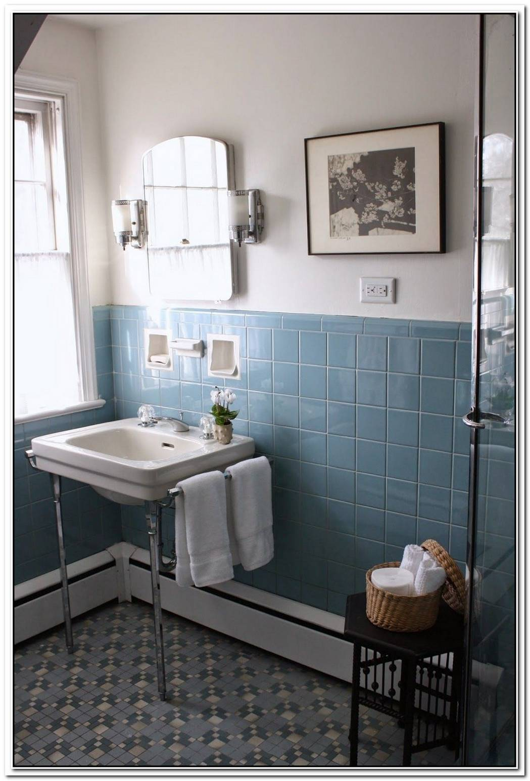 Blue Bathroom Small Vintage