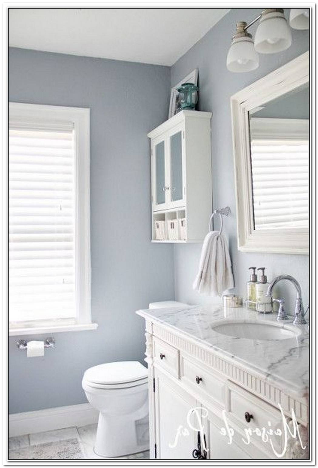 Blue Light Grey Bathroom