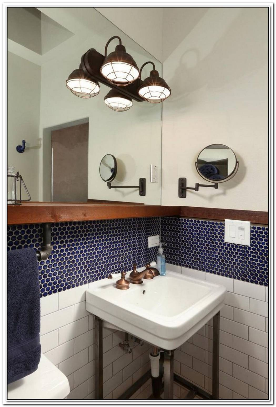 Blue Vintage Bathroom Blue Accent