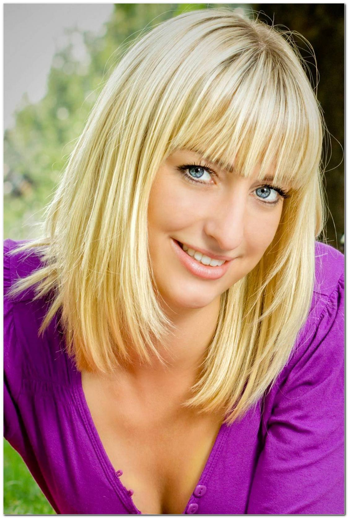 Bob Frisuren Blond Mit Pony