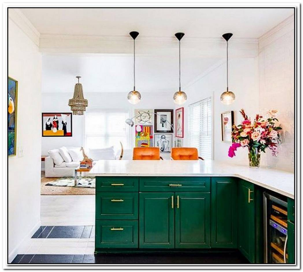 Bold Colors And Patterns Elevate A Contemporary Kitchen