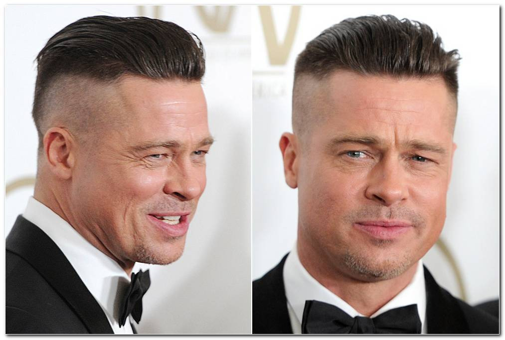 Brad Pitt Fury Frisur Stylen