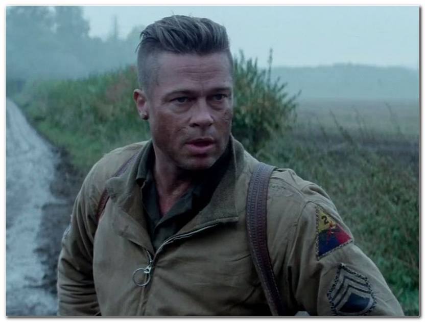 Brad Pitt Fury Frisur