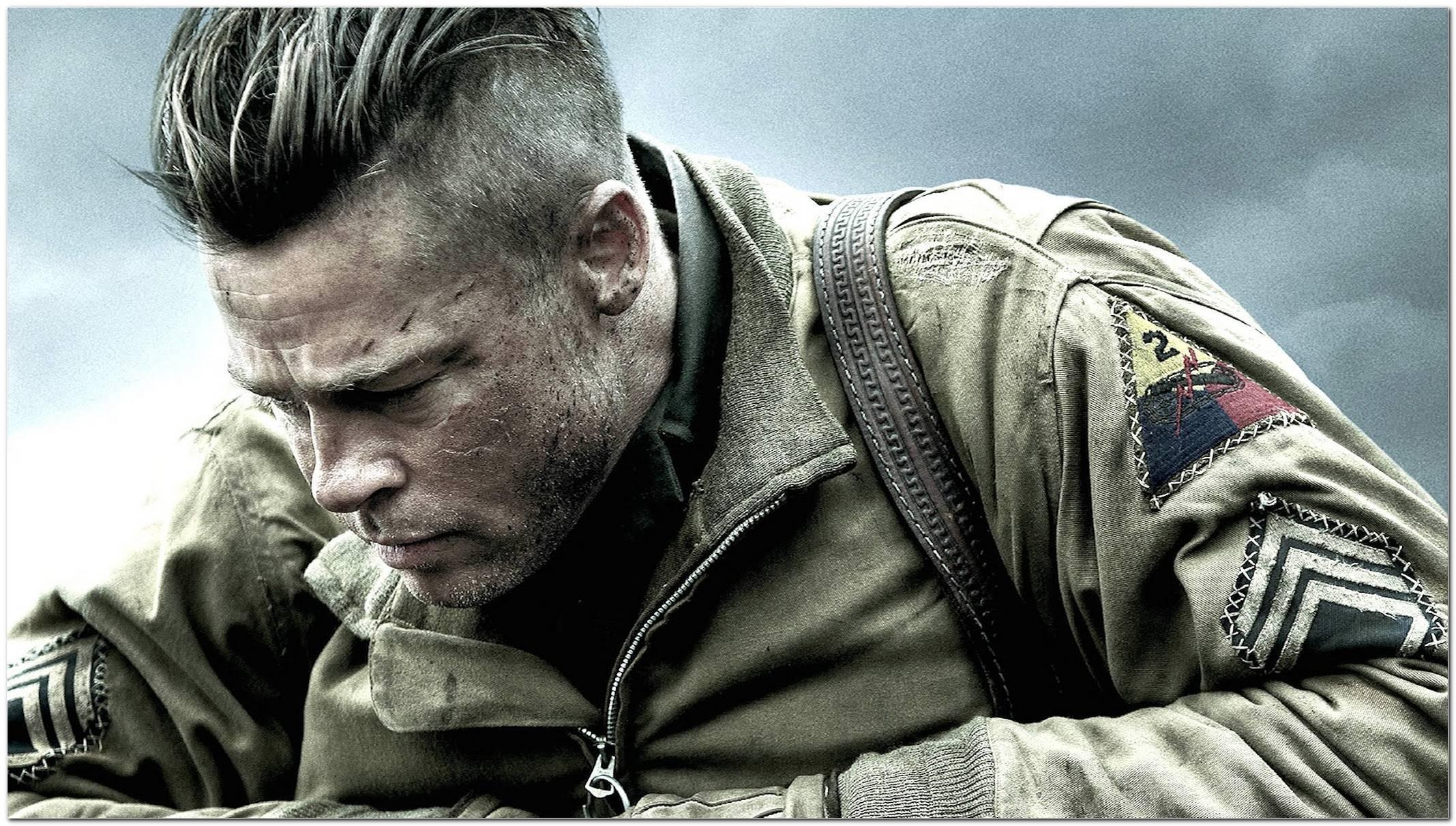Brad Pitt Herz Aus Stahl Frisur