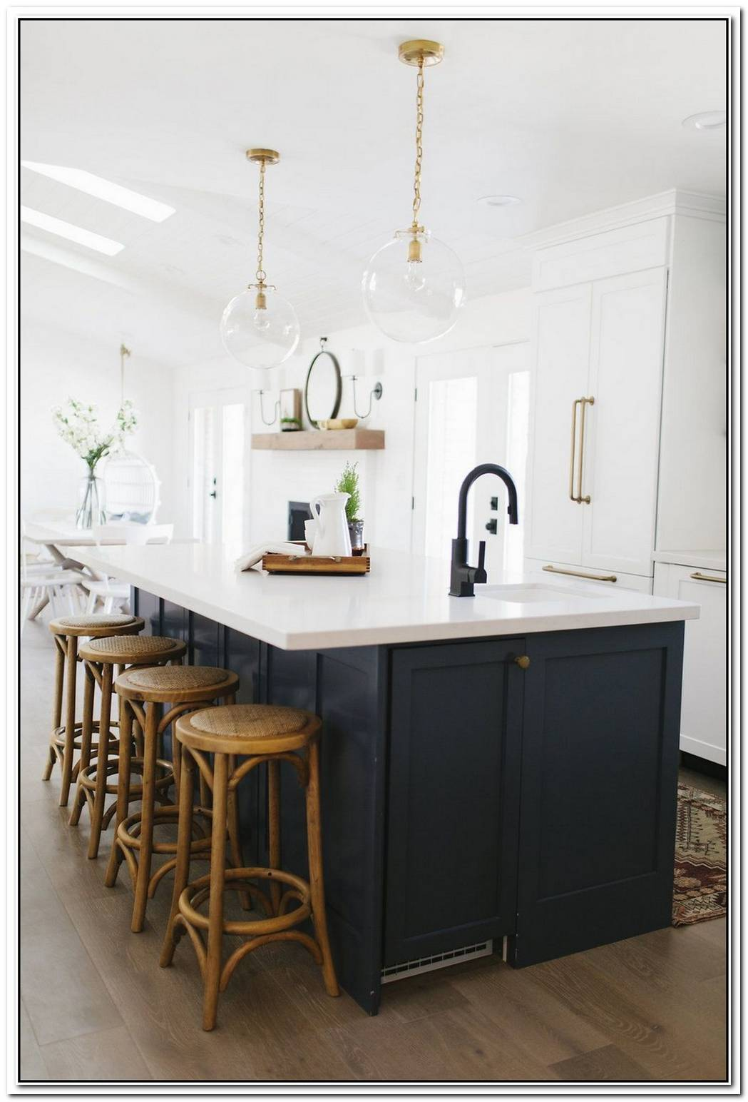 Brass Finishes And Organic Accents Combine For A Gorgeous Kitchen Design