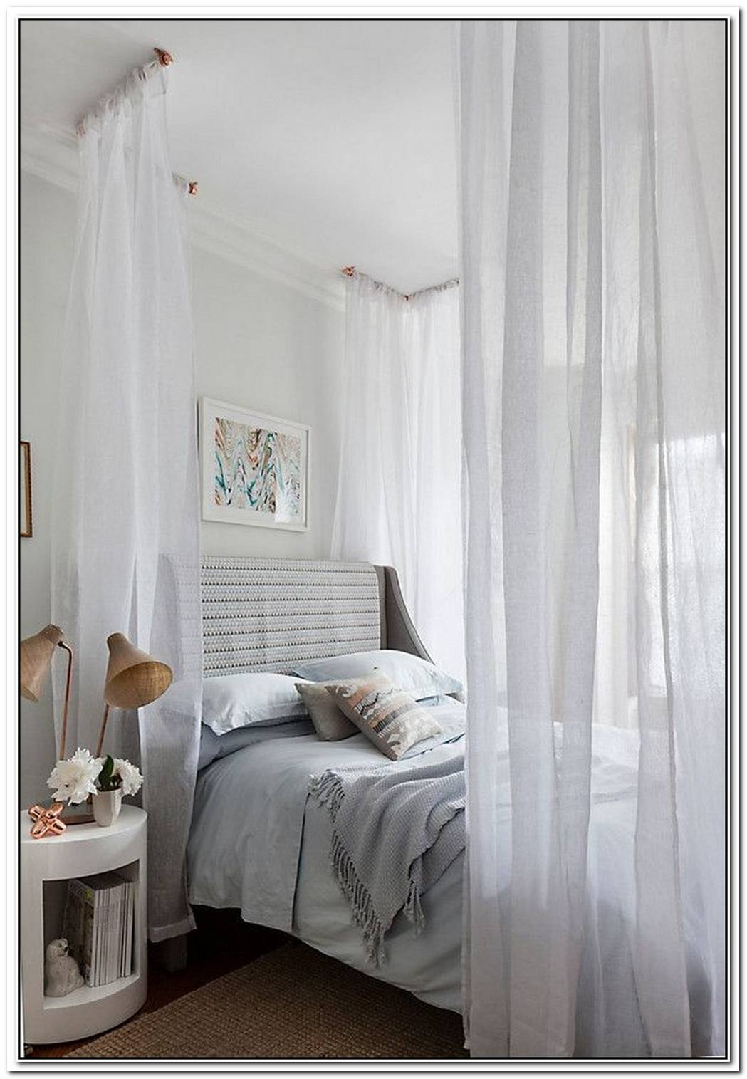 Breezy Curtains Make For A Dreamy Bedroom